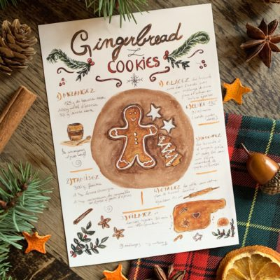 Recette Gingerbread cookies Carofromwoodland