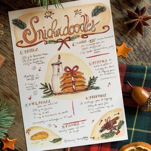 Recette Snickerdoodles de noël