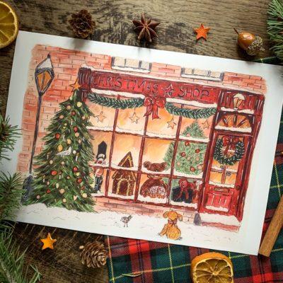 Affiche Christmas shop